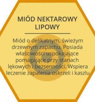 Czysty miód nektarowy lipowy 1.25 kg
