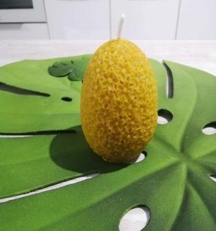 Świece z wosku pszczelego- duże jajo
