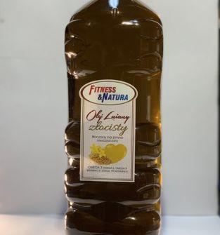 Olej lniany złocisty tłoczony na zimno 5l