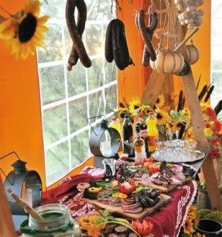 usługi z zakresu gastronomii w tym stół wiejski